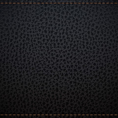 Black natural leather texture
