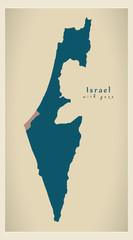 Modern Map - Israel with gaza strip IL