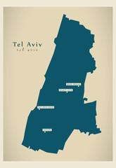 Modern Map - Tel Aviv IL