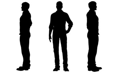 silhouettes of a men Wall mural