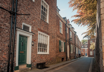 Street in the historic city of York, England