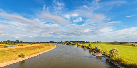 The old Dutch river IJssel in the province of Gelderland
