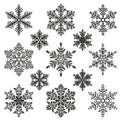 snowflake illustration set