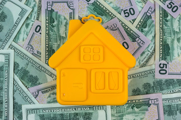 house on a hundred dollar bill close-up