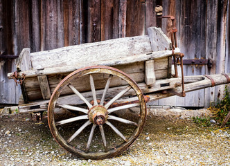 old hay cart