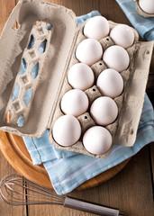 Frische bio Eier