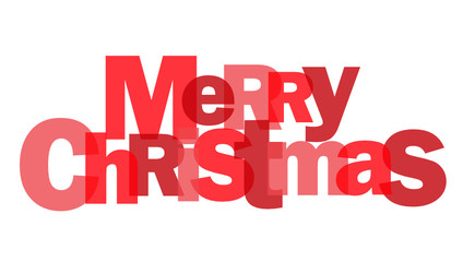 Letter Collage MERRY CHRISTMAS (red)