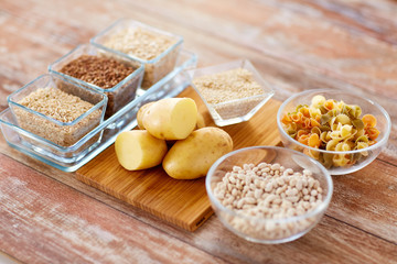 close up of carbohydrate food