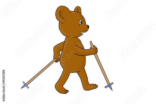 quotteddy bear exercise nordic walking quot immagini e