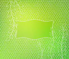 Green hand drawn background