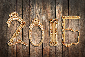 2016, wooden antique frames, wood planks background