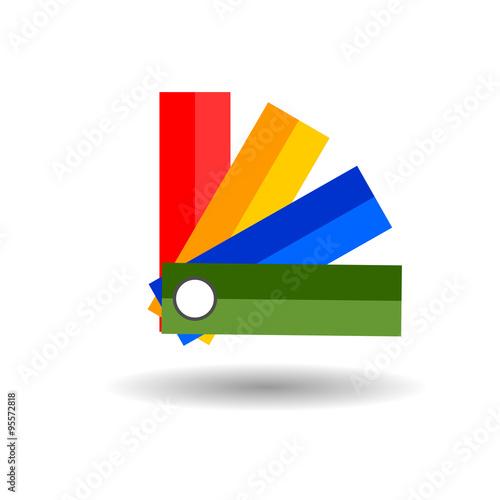 Panton flat icon on white background