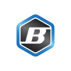 B Hexagonal Logo
