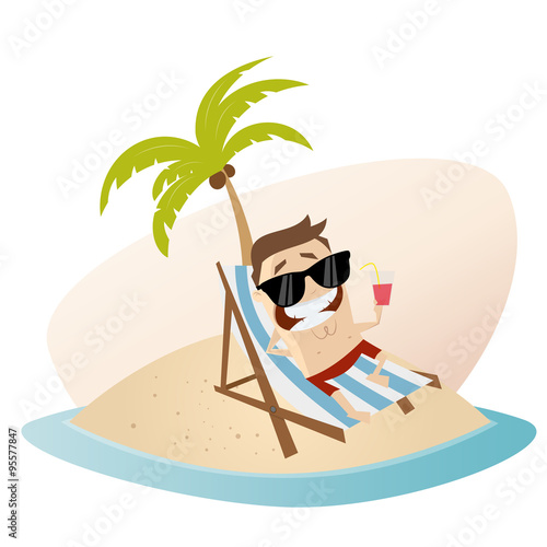 Urlaub strand insel palme mann stock image and royalty for Koch auf englisch