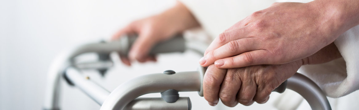 Older woman and support