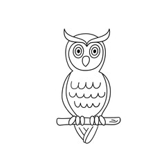 Coloring page outline of owl