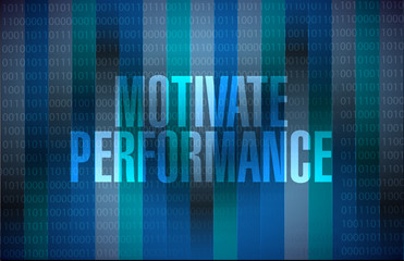 Motivate Performance binary background sign