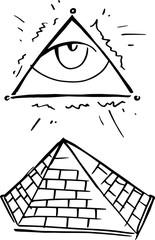 Eye pyramid emblem