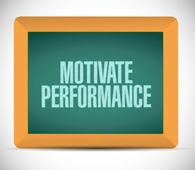 Motivate Performance board sign concept