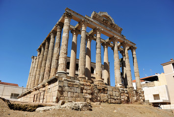 Roman Temple of Merida, Extremadura, Spain