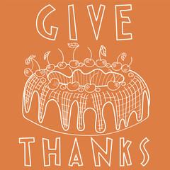 Thanksgiving day & Cake