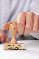 Stempel Asylantrag