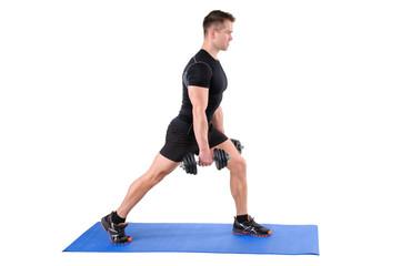 Standing Dumbbell Split-Squat Workout