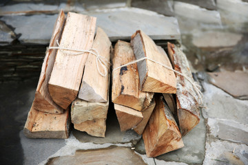 Logs of fire wood