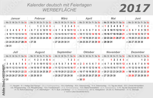 kalender 2017 grau quer deutsch mit feiertagen stockfotos und lizenzfreie vektoren. Black Bedroom Furniture Sets. Home Design Ideas