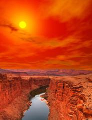 Sunset Colorado river