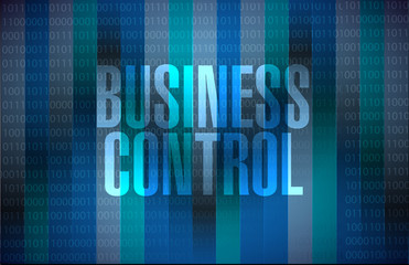 business control binary sign concept