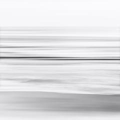 Fototapete - Black and White Blurred Seascape