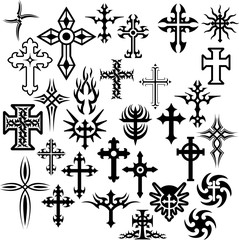 Assorted Christian Crosses