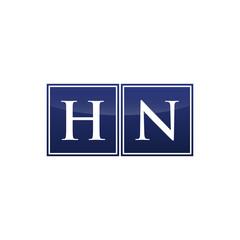 Letter Initial Logo HN