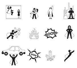 Superhero vector elements