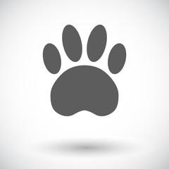 Paw flat icon