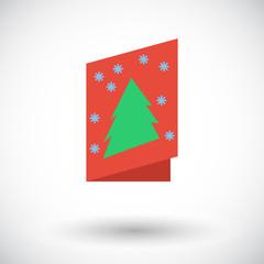 Christmas postcard icon