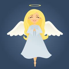 Peaceful Blonde Angel