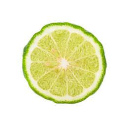 bergamot on white background