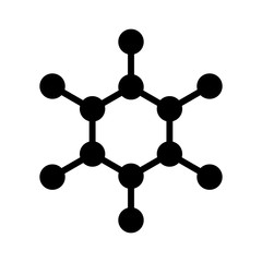 Carbon molecule flat icon for apps and websites