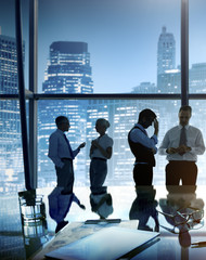 Business People Brainstorming Teamwork Success Concept