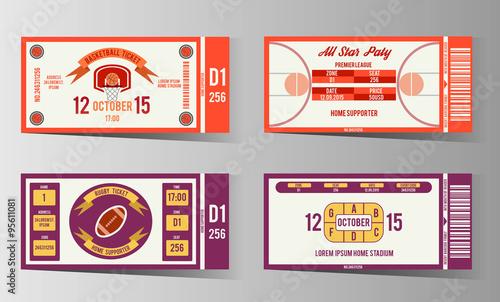 Sports ticket design – Ticket Design Online Free