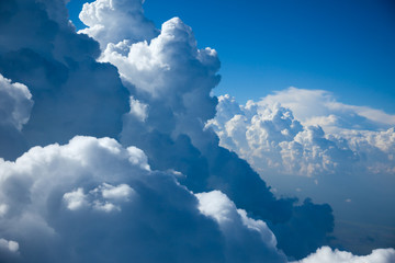 Wall Murals Air photo Aerial view of Sky and close-up Clouds