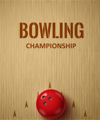 bowling realistic theme  Editable vector