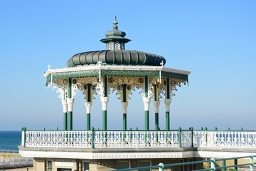 Brighton and Hove Bandstand by sea