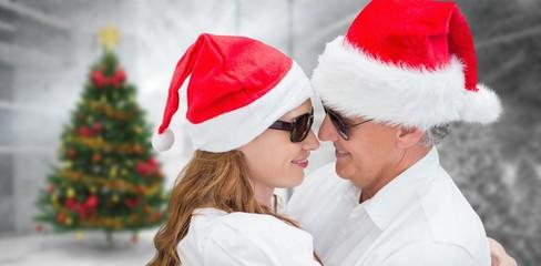 Composite image of christmas couple