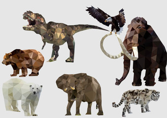 vector illustration of set of Animals