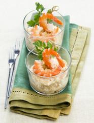 verrines appetizer with shrimp
