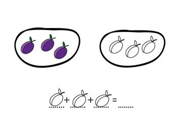 owoce,zbiór,matematyka