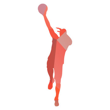 Basketball player from vector triangles